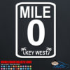 Key West Mile Marker 0 Decal