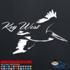 Key West Pelican Decal Sticker