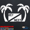 Key West Scuba Flag Palm Trees Decal Sticker