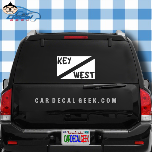 Key West Scuba Dive Flag Car Window Decal Sticker