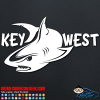 Key West Shark Decal Sticker