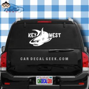 Key West Shark Car Window Decal Sticker