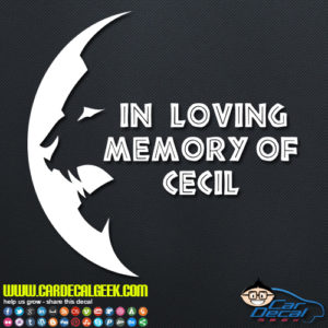 Cecil the Lion Moon Decal
