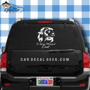 Cecil the Lion Memorial Sticker