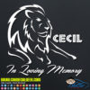 Cecil the Lion Decal Sticker