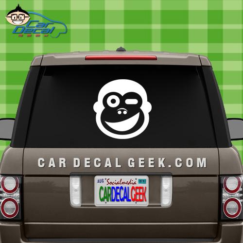 Winking Monkey Car Decal