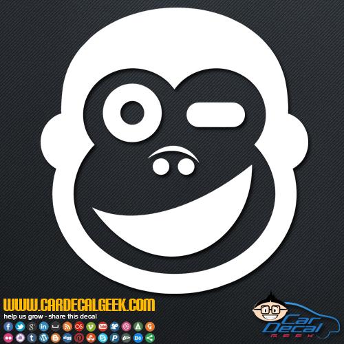 Winking Monkey Decal