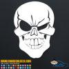 Winking Skull Decal Sticker