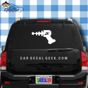 Alien Ray Gun Car Window Decal Sticker