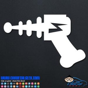 Alien Ray Gun Decal Sticker