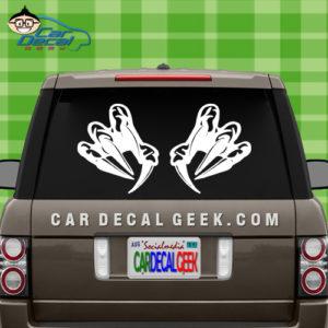Claws Car Window Decal Sticker