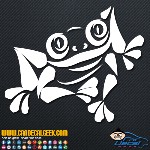 Cool Tree Frog Decal Sticker