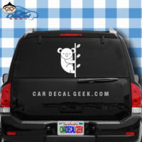 Cute Koala Bear Car Window Decal Sticker