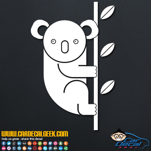 Cute Koala Bear Decal