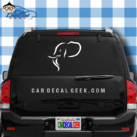 Cool Elephant Head Decal Car Truck Sticker