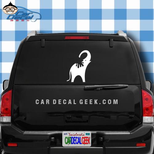 Elephant Shower Car Window Decal Sticker