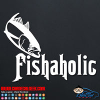 Fishaholic Car Decal