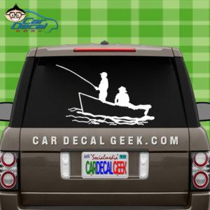 Fishing in a Boat Car Window Decal