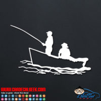 Fishing in a Boat Decal