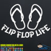 Flip Flop Life Decal Sticker