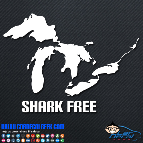Great Lakes Shark Free Decal Sticker