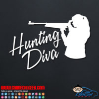 Hunting Diva Decal Sticker