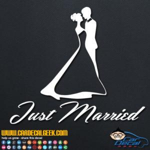 Just Married Bride & Groom Decal