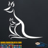 Kangaroo and Baby Decal Sticker