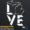 Michigan Love Decal Sticker