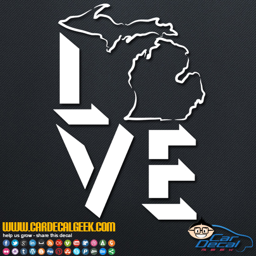 Michigan Love Decal Sticker