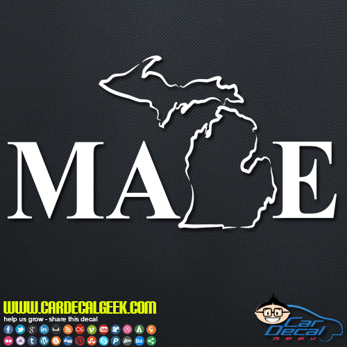 Michigan made decal sticker
