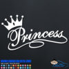 Princess Crown Decal Sticker