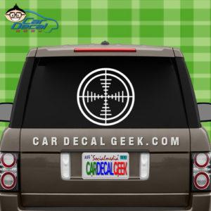 Rifle Gun Scope Target Car Sticker Decal