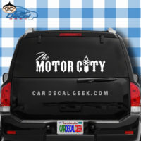 The Motor City Car Window Sticker