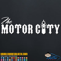 The Motor City Car Window Decal