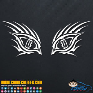 Tribal Tiger Eyes Decal Sticker