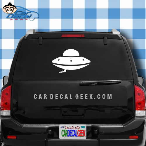UFO Car Decal