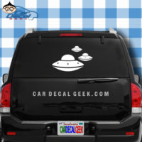 3 UFO's Car Window  Decal Sticker