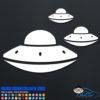 3 UFO's Decal Sticker