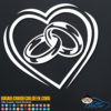 Wedding Rings Heart Decal