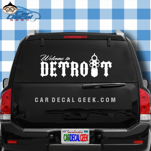 Welcome to Detroit Car Window Decal Sticker