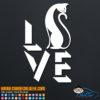 Cat Love Decal Sticker