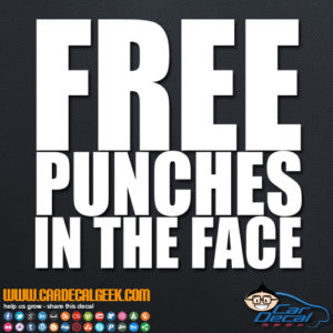 Free Punches in The Face Decal
