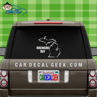 Michigan Guy Car Window Decal Sticker