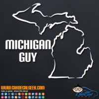 Michigan Guy Decal Sticker