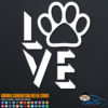 Dog Love Decal Sticker