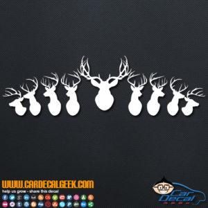 Mounted Deer Heads Decal Sticker