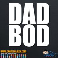 Dad Bod Decal Sticker