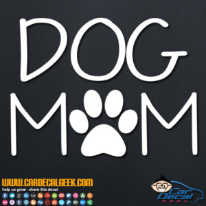 Dog Mom Decal Sticker