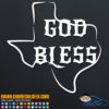 God Bless Texas Decal Sticker